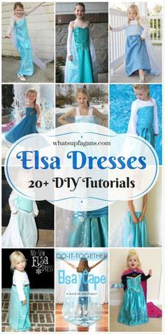 DIY Elsa Costumes from Disney Frozen perfect for Halloween or dress up for girls!