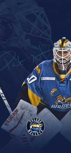 Wallpaper of Toledo Walleye goalie Pat Nagle Toledo Walleye, Hockey, Wallpaper, Field Hockey, Wallpapers, Ice Hockey