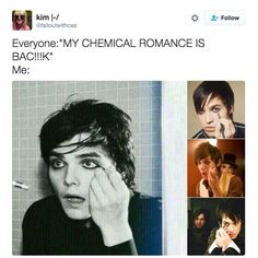 Eyeliner got thicker: | Everyone Is Going Emo Again Because My Chemical Romance Teased Their Return