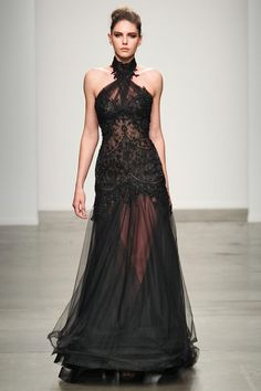 Black and dramatic at Steven Khalil S/S '14