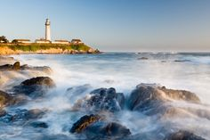 Evening Light at Pigeon Point Lighthouse by Stefan Bäurle, via 500px.