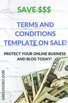 protect your online business blog and website with this terms and conditions template drafted by