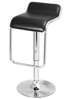 Monaco bar stool padded faux leather seat footrest height adjustable