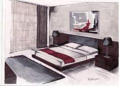 Esquisse par M Provost-Home-Staging-Orleans-Paris-RP-Orleans Home Staging, Trees To Plant, Floor Chair, Decoration, Furniture, Home Decor, Images, Google, Bedrooms