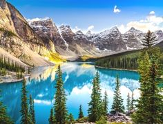 Com entrada facilitada para brasileiros, Canadá tem lago que parece pintura