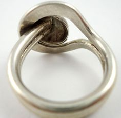Modernist Ring Sterling - Back