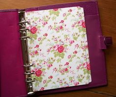 Cottage Chic - Vintage - Roses - A5 #dividers - fits #filofax