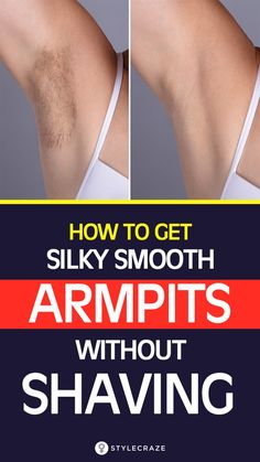 Most of the women pick the shaving route although they are aware that it can cause a lot of irritation to the skin, not to forget the ingrown hair that causes irksome itching. But what if you could achieve those smooth underarms without touching the razor Underarm Hair Removal, Hair Removal Cream, Laser Hair Removal, Permanent Hair Removal, Ingrown Hair Armpit, Underarm Waxing, Ingrown Hair Remedies, Natural Hair Removal, Hair Removal Diy