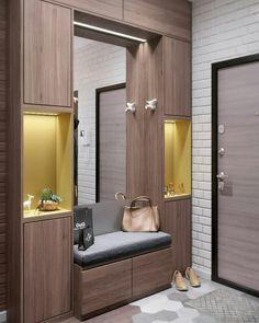 Small Interior Doors – Home Interior Decor Home Room Design, Interior Design Living Room, Modern Interior, House Design, Interior Doors, Home Entrance Decor, Home Decor, Entrance Hall, Flur Design