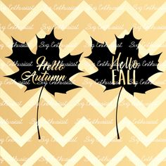 Hello Autumn SVG, Hello Fall SVG, Fall leaves Svg, Leaf Svg, Autumn Svg, Fall…