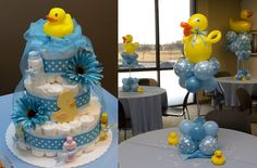 Rubber Duckie Baby Shower Ideas...Adorable diaper cake!