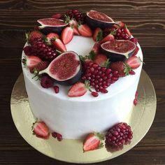 New fruit cake ideas baking desserts 26 ideas Pretty Cakes, Beautiful Cakes, Amazing Cakes, Cake Cookies, Cupcake Cakes, Bolos Naked Cake, Cake Recipes, Dessert Recipes, Think Food