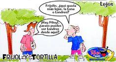 Frases, chistes, anécdotas, reflexiones y mucho más.: Chiste Frijol y Tortilla, Lejos, Nuestro Diario Guatemala.