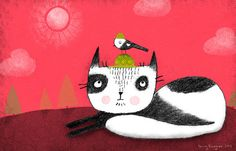green hat cat--terry runyan #cat