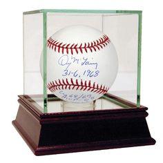 Denny McLain Signed MLB Baseball w 31-6 1968 CY 6869 MVP 68 3x All Star 666869 WSC 1968 WSC Last 30 Game Winner W= 131 L= 91 Ins