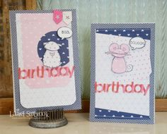 Girly Birthday Cards by @laurel_seabrook for #SBAdhesivesby3L Blog.
