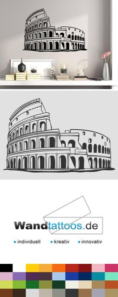 Lovely Wandtattoo Colosseum Rom Wahrzeichen