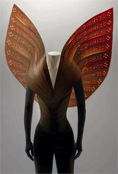 As if I could. Still, it's nice to dream! Maybe it will inspire something later.   Alexander McQueen wings #fashionfriday