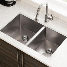 3322O Offset Stainless Steel Kitchen Sink