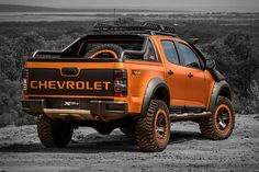 The Chevrolet Colorado XTreme Truck Is a Monster on the Roads: Unfortunately a concept only for the Thai market. Lifted Chevy Trucks, Lowered Trucks, Old Ford Trucks, Diesel Trucks, Big Trucks, Pickup Trucks, Chevrolet 4x4, Chevrolet Colorado Z71, Chevrolet Impala