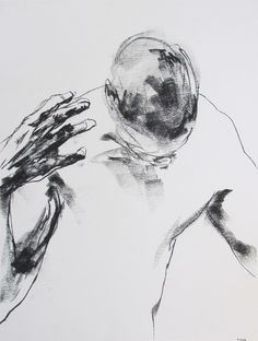 Drawing 122, charcoal on paper, 18 x 24, 2012, private collection, Toronto, Canada | Derek Overfield