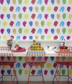 """In the 1,900-square-foot establishment, Hollis specified furniture, materials, and decorations that meet very strict hygienic standards but with a welcoming modern look that was playful enough for kids and sophisticated enough for parents to enjoy. """"People's jaws drop when they see the space,"""" Black says. """"There isn't a lice-treatment salon on every corner so people don't know what to expect. [Honeycombers' design] relaxes parents because it's so unique and special."""" The graphics on the wall…"""