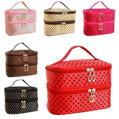New Fashion Double-deck Travel Toiletry Beauty Cosmetic Bag Makeup Case Organizer Zipper Holder Handbag HB88 #clothing,#shoes,#jewelry,#women,#men,#hats,#watches,#belts,#fashion,#style