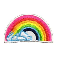 Rainbow Patch Embroidered Iron on Patch Movie Patches