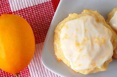 Lemon-ricotta cookies with lemon glaze