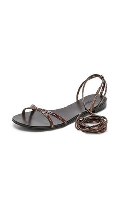 Michael Kors Collection Bale Laceup Flat Sandals