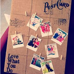 Burlap board for photos