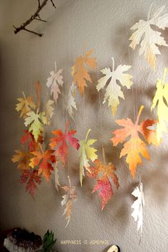 Fall Leaves from Kids Watercolor Paintings