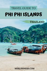 Phi Phi Islands – one of the most iconic places to visit in Thailand. If you like the idea of gliding peacefully on a boat through the clear, turquoise waters, between soaring limestone cliffs, then you will love the Phi Phi island tour. You can't visit Southern Thailand without taking a trip to this breathtaking paradise. Find out more here #phiphiisland #thailandtravel #phiphitour #visitthailand