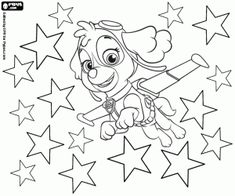 Paw Patrol Coloring The Star Pages Drawings