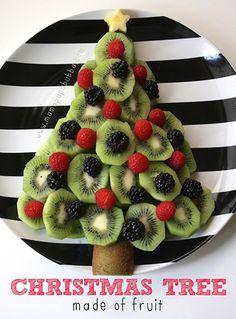キウイフルーツで作るクリスマスツリー クリスマスパーティーのアイデア料理