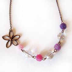 Flowers and Berries Short Necklace from Dicope Bisuteria (sweet <3)