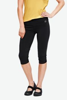 Women's Solid Control Performance Capri Legging from Lands' End
