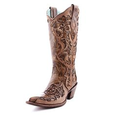 Corral Sand Tooled Laser Cowboy Boots|All Womens Western Boots