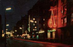Neons on Św. Marcin Street in 1960's (by P. Krassowski)