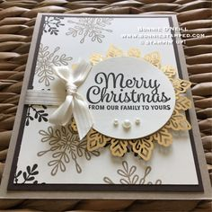 #foilsnowflakes #holidaycards #bonniestamped #stampinup