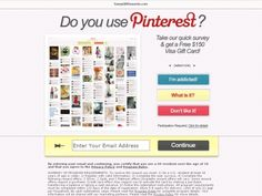 (!!Attention!!) Pinterest Users Here's Your Chance To Receive A Free Visa Gift Card!! So Nice (Click Pic Twice 2 Sign Up)! #Free #Stuff