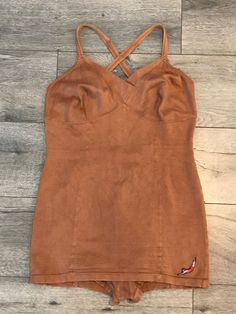 VINTAGE ART DECO 1930s JANTZEN SWIMSUIT BRONZE COLOR BATHING SUIT ONE PIECE  #jantzen
