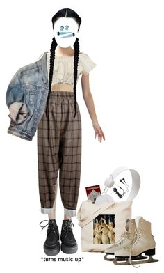 """04.03 ice skating"" by savlinem on Polyvore featuring Mode, Verso, CÉLINE, WeSC, Express, White Ice und Hot Topic"