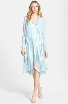 Komarov Handkerchief Hem Charmeuse Dress & Chiffon Jacket available at #Nordstrom