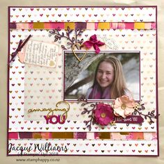 Painted with Love - Scrapbooking Layout