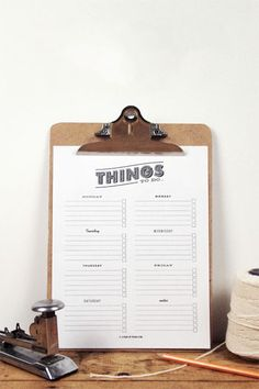 Printable Things To-Do List