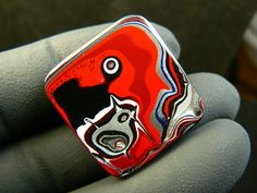 Genuine 1980's Fordite Cabochon Hand Cut in by ForditeFanaticsUK, £14.00