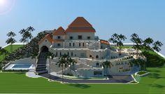 Sandstone Mansion i made in minecraft. Download link: http://www.minecraft-schematics.com/schematic/5664/