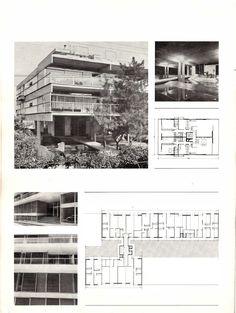 Τάκης Χ. Ζενέτος, 1926-1977 - Takis Ch. Zenetos, 1926-1977 Student House, Modern Buildings, Athens, Architects, Architecture Design, Greece, Floor Plans, House Design, Models