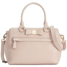 kate spade new york Renny Drive Ashton Tote Convertible Crossbody (€180) ❤ liked on Polyvore featuring bags, handbags, mousse frosting, genuine leather purse, pink handbags, kate spade, kate spade crossbody and pink leather purse